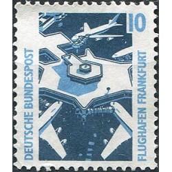 1 عدد تمبر سری پستی مناظر  - 10 فنیک  -جمهوری فدرال  آلمان 1988