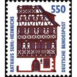 1 عدد تمبر سری پستی مناظر  - 550 فنیک  -جمهوری فدرال  آلمان 1993 قیمت 5.6 دلار