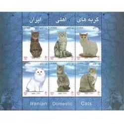 3004 تمبر گربه های اهلی ایرانی 1383