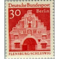 1 عدد تمبر سری پستی - بناهای قرن دوازدهم - 30 فنیک - برلین آلمان 1966
