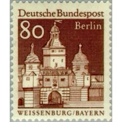 1 عدد تمبر سری پستی - بناهای قرن دوازدهم -  80 فنیک - برلین آلمان 1966