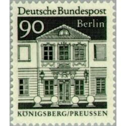 1 عدد تمبر سری پستی - بناهای قرن دوازدهم -  90 فنیک - برلین آلمان 1966