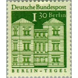 1 عدد تمبر سری پستی - بناهای قرن دوازدهم -  1.3 مارک  - برلین آلمان 1966