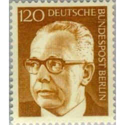 1 عدد تمبر سری پستی رئیس جمهور فدرال گوستاو هاینمان - 120 فنیک  - برلین آلمان 1971