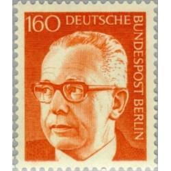 1 عدد تمبر سری پستی رئیس جمهور فدرال گوستاو هاینمان - 160 فنیک  - برلین آلمان 1971