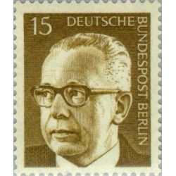 1 عدد تمبر سری پستی رئیس جمهور فدرال گوستاو هاینمان - 15 فنیک  - برلین آلمان 1972