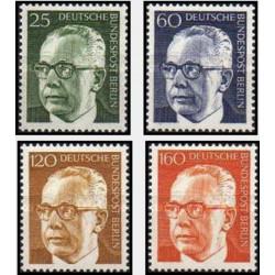 4 عدد تمبر سری پستی رئیس جمهور فدرال گوستاو هاینمان - برلین آلمان 1971 قیمت 5.6 دلار