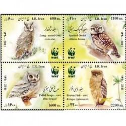 3278 تمبرجغدهای بومی ایران 1390