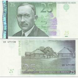 اسکناس 25 کرون - استونی 2007