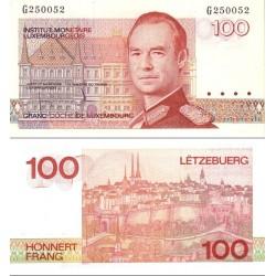 اسکناس 100 فرانک - لوگزامبورگ 1986 سری A-K