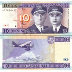 اسکناس 10 لیتاس - لیتوانی 2001
