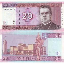 اسکناس 20 لیتاس - لیتوانی 2007