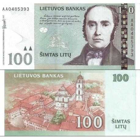 اسکناس 100 لیتاس - لیتوانی 2007