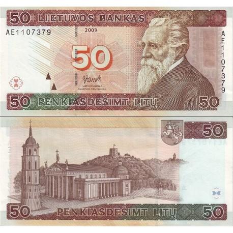 اسکناس 50 لیتاس - لیتوانی 2003