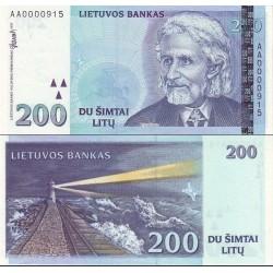 اسکناس 200 لیتاس - لیتوانی 1997