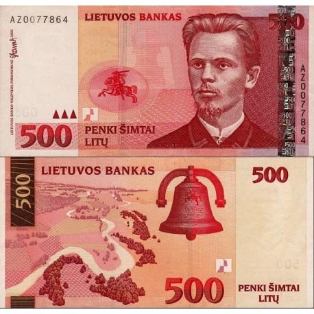 اسکناس 500 لیتاس - لیتوانی 2000