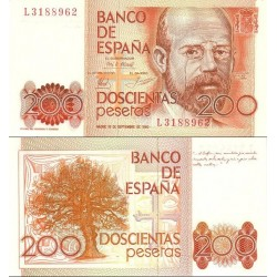 اسکناس 200 پزوتا - اسپانیا 1980