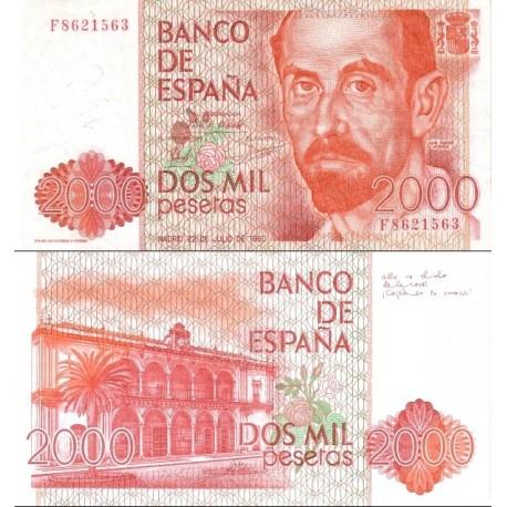 اسکناس 2000 پزوتا - اسپانیا 1980