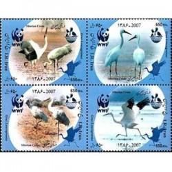 3084 تمبر درنای سیبری 1386