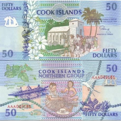 اسکناس 50 دلار - جزایر کوک 1992 ارزش ارزی معادل 33 دلار