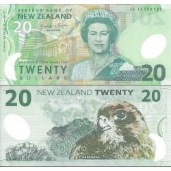 اسکناس پلیمر 20 دلار - نیوزلند 2014 دو رقم اول سریال سال انتشار است