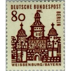 1 عدد تمبر سری پستی - ساختمانهای قرن دوازدهم آلمان - 80 فنیک -برلین آلمان 1964