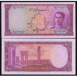 101 - اسکناس 100 ریال ابوالحسن ابتهاج - علی بامداد 1327 - 1330 - تک
