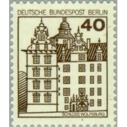 1 عدد تمبر سری پستی - قلعه ها و قصرها - 40 فنیک - برلین آلمان 1980
