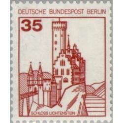 1 عدد تمبر سری پستی - قلعه ها و قصرها - 35 فنیک - برلین آلمان 1982