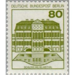 1 عدد تمبر سری پستی - قلعه ها و قصرها - 80 فنیک - برلین آلمان 1982