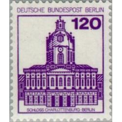 1 عدد تمبر سری پستی - قلعه ها و قصرها - 120 فنیک - برلین آلمان 1982