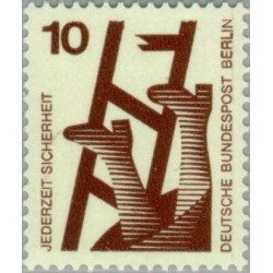 1 عدد تمبر سری پستی - پیشگیری از حوادث - 10 فنیک - برلین آلمان 1971