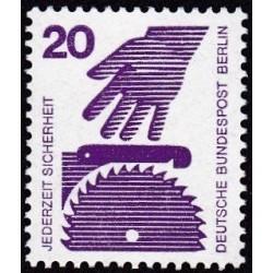 1 عدد تمبر سری پستی - پیشگیری از حوادث - 20 فنیک - برلین آلمان 1971