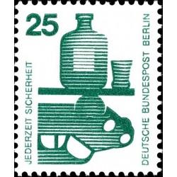 1 عدد تمبر سری پستی - پیشگیری از حوادث - 25 فنیک - برلین آلمان 1971