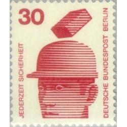 1 عدد تمبر سری پستی - پیشگیری از حوادث - 30 فنیک - برلین آلمان 1971