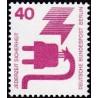 1 عدد تمبر سری پستی - پیشگیری از حوادث - 40 فنیک - برلین آلمان 1971