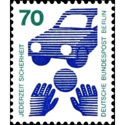 1 عدد تمبر سری پستی - پیشگیری از حوادث - 70 فنیک  - قیمت جدید - برلین آلمان 1973