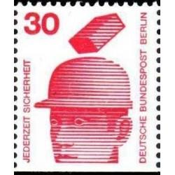 1 عدد تمبر سری پستی - پیشگیری از حوادث - از بوکلت - 30 فنیک - برلین آلمان 1971
