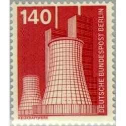1 عدد تمبر سری پستی - صنایع و تکنیک - 140 فنیک - برلین آلمان 1975