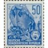 1 عدد تمبر سری پستی - برنامه 5 ساله - 50 فنیک - جمهوری دموکراتیک آلمان 1957