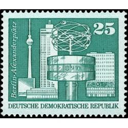 1 عدد تمبر سری پستی -ساختمانهای برلین 25 فنیک - جمهوری دموکراتیک آلمان 1973