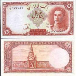 090 - اسکناس 5 ریال ابوالحسن ابتهاج - علی بامداد 1323 تک