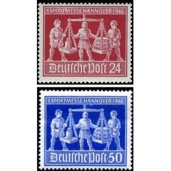 2 عدد تمبر نمایشگاه صادراتی هانوور - منطقه تحت اشغال مشترک آلمان 1948