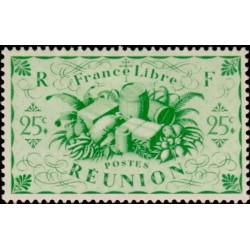 1 عدد تمبر سری پستی - تولیدات ملی  -25 سنت - مستعمرات  فرانسه - ریونیون 1943