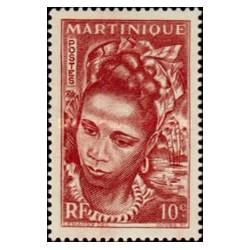 1 عدد تمبر سری پستی - 10 سنت - مارتینیک 1947