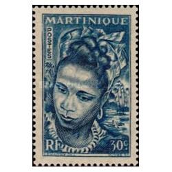 1 عدد تمبر سری پستی - 30 سنت - مارتینیک 1947 با شارنیه