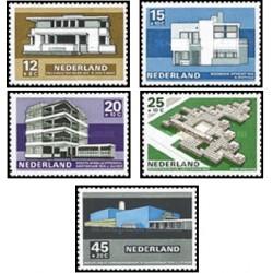 5 عدد تمبر معماری مدرن - تمبر خیریه - هلند 1969 قیمت 4.2 دلار