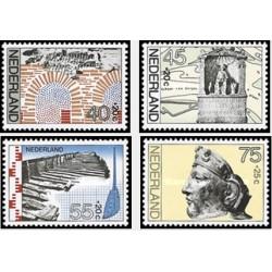 4 عدد تمبر باستانشناسی - خیریه  - هلند 1977