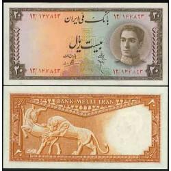 099 - اسکناس 20 ریال ابوالحسن ابتهاج - علی بامداد 1327 - 1330 - تک