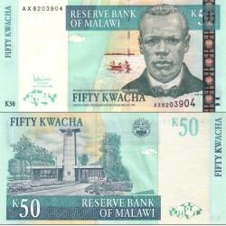 اسکناس 50 کواچا - مالاوی 2005 سایز ارقام سریال پایین صعودی